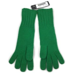J. Crew Wool Cashmere Blend Knit Gloves in Green